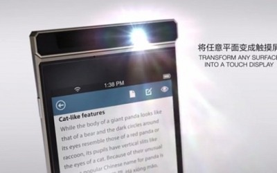 Lenovo's New Smartphone Projects Touchscreen